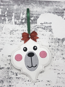 Polar Bear Fancy Ornament Embroidery Design